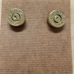 Handmade bullet earrings